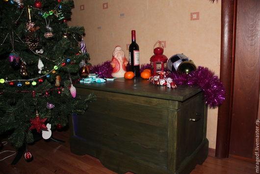 """Мебель ручной работы. Ярмарка Мастеров - ручная работа. Купить Сундук  """"Реликтовая зелень"""". Handmade. Новогодний подарок, из дерева, зеленый"""