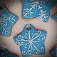 """Кулинарные сувениры ручной работы. Заказать """"Christmas stars"""" набор новогодних пряников - козуль. Ларка  (Пряники-козули). Ярмарка Мастеров."""