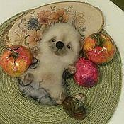 Куклы и игрушки handmade. Livemaster - original item The toy is made of felt (wool) hedgehog Yasha. hedgehog. Hedgehog. Handmade.