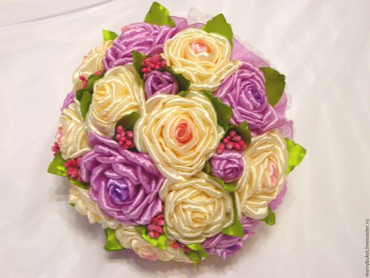 """Свадебные цветы ручной работы. Ярмарка Мастеров - ручная работа. Купить Букет невесты """"Катрин"""". Handmade. Комбинированный, кружево"""