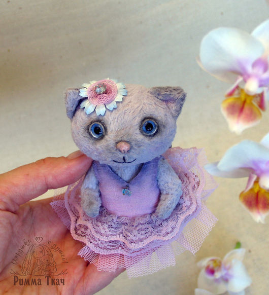 Мишки Тедди ручной работы. Ярмарка Мастеров - ручная работа. Купить Тедди Кошечка Малышка Дульсинея или просто Дуся. Handmade.