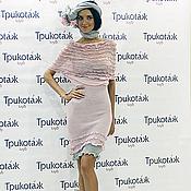 Одежда ручной работы. Ярмарка Мастеров - ручная работа Вязаная туника -платье розовая. Handmade.