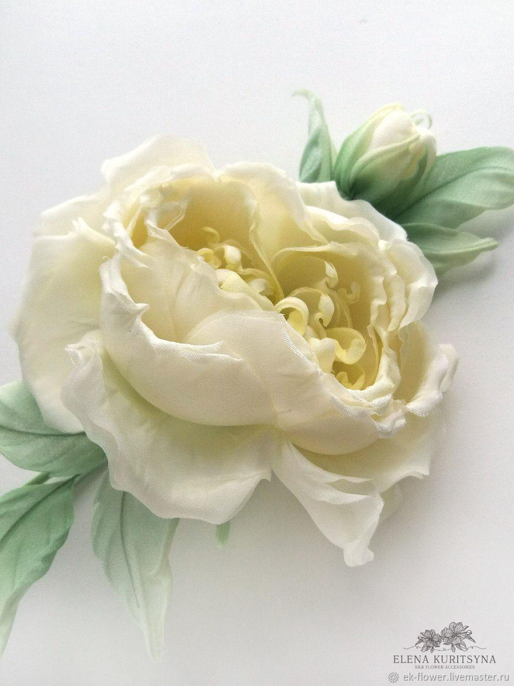 Silk Flowers Rose Brooch Clarissa Shop Online On Livemaster