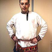 Народные костюмы ручной работы. Ярмарка Мастеров - ручная работа Рубаха мужская воронежская свадебная. Handmade.