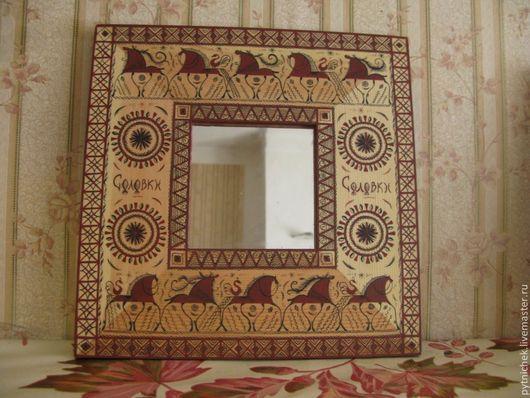 Зеркала ручной работы. Ярмарка Мастеров - ручная работа. Купить зеркало. Handmade. Рыжий, зеркало, дерево