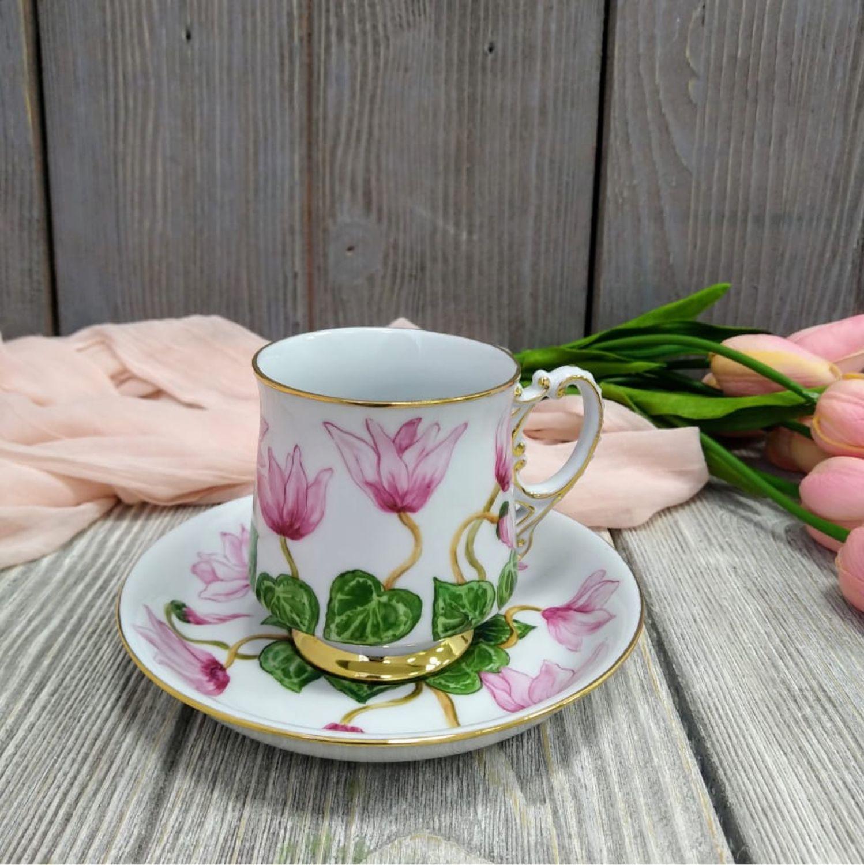 Кофейная пара «Цикломен», Чайные пары, Москва,  Фото №1