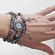 Часы с браслетами Ключики от сердечных тайн, рутиловый кварц, подарок девушке