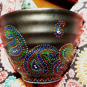 Посуда ручной работы. Ярмарка Мастеров - ручная работа Пиалы: Теплый настрой. Handmade.