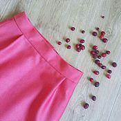 Одежда handmade. Livemaster - original item Mini skirt Brusnichka, woolen drape, viscose. Handmade.