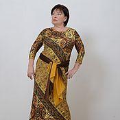 Одежда handmade. Livemaster - original item Dress cool knitwear Arabic yellow sand. Art.668. Handmade.