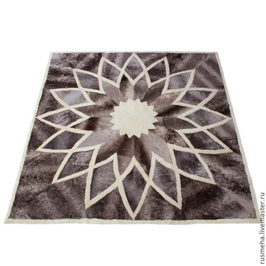 Текстиль, ковры ручной работы. Ярмарка Мастеров - ручная работа. Купить Ковер из меха овчины Код: 505. Handmade. Серый