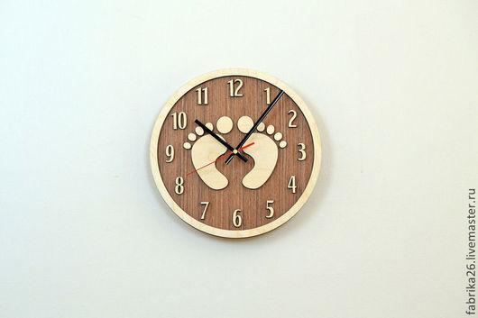 Часы для дома ручной работы. Ярмарка Мастеров - ручная работа. Купить Деревянные часы из натурального шпона. Handmade. Часы
