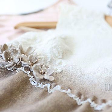Одежда ручной работы. Ярмарка Мастеров - ручная работа Валяное платье «Сливочное утро». Handmade.