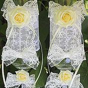 """Свадебный салон ручной работы. Ярмарка Мастеров - ручная работа Свадебные бокалы  Фужеры """"Чайная роза"""". Handmade."""