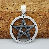 Украшения handmade. Livemaster - original item Pentagram 925 silver pendant star. Handmade.