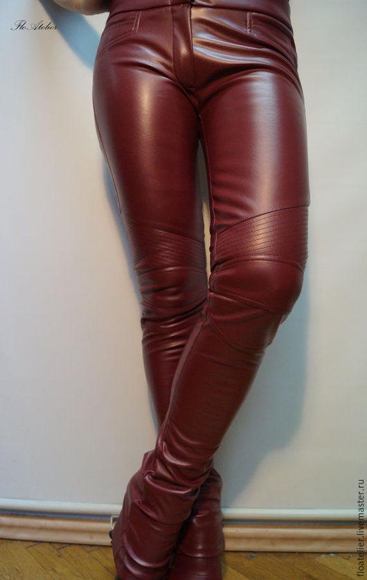 Брюки, шорты ручной работы. Ярмарка Мастеров - ручная работа. Купить Женские брюки из кожи/Модные штаны/F1488. Handmade. Коричневый