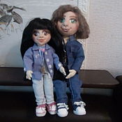 Шарнирная кукла ручной работы. Ярмарка Мастеров - ручная работа Шарнирная кукла: Ксюша и Сашка срок изготовления 15-20 дней. Handmade.