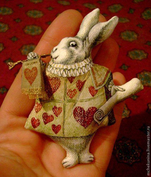 Сказочные персонажи ручной работы. Ярмарка Мастеров - ручная работа. Купить Белый Кролик. Handmade. Алиса в стране чудес, кролик
