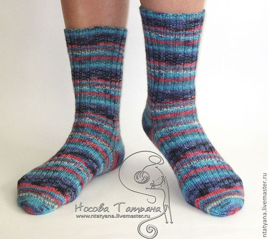 Носки, Чулки ручной работы. Ярмарка Мастеров - ручная работа. Купить Носки В полосочку. Handmade. Носки, шерстяные носки