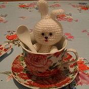 Куклы и игрушки ручной работы. Ярмарка Мастеров - ручная работа вязанный зайчонок Лапусик. Handmade.