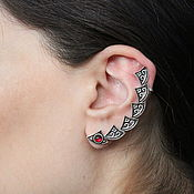 handmade. Livemaster - original item Cuff Triangle Earring in 925 Sterling silver GA0030-3. Handmade.