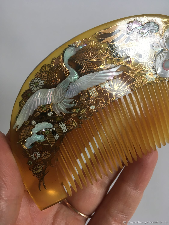 Винтаж:  японский гребень шпилька для волос, Аксессуары винтажные, Москва,  Фото №1