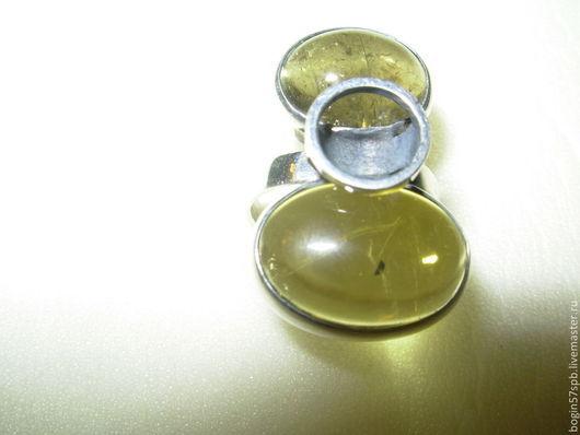 """Кольца ручной работы. Ярмарка Мастеров - ручная работа. Купить Кольцо """"Два турмалина"""". Handmade. Оливковый, серебро 925 пробы"""