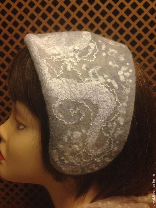 Шляпы ручной работы. Ярмарка Мастеров - ручная работа. Купить СНЕЖНЫЕ УЗОРЫ. Handmade. Серый, шляпка