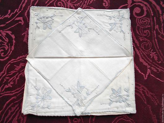Винтажная одежда и аксессуары. Ярмарка Мастеров - ручная работа. Купить Старинный носовой платок c ручной вышивкой, Франция. Handmade.