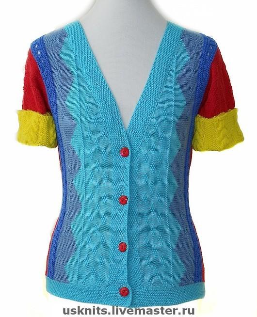 Sweatshirts & Sweaters handmade. Livemaster - handmade. Buy Knitted summer sweater made of cotton '5 colors'.Cardigan