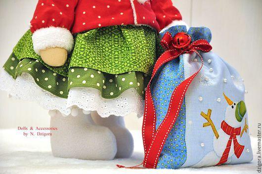 Игрушки животные, ручной работы. Ярмарка Мастеров - ручная работа. Купить Новогодняя зайка Снежка. Подарок на Новый год, Рождество. Handmade.
