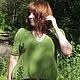 Кофты и свитера ручной работы. Ярмарка Мастеров - ручная работа. Купить джемпер Шепот леса вязаный женский. Handmade. Зеленый
