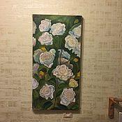 Картины и панно ручной работы. Ярмарка Мастеров - ручная работа Картина маслом Розы. Handmade.