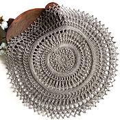 Для дома и интерьера handmade. Livemaster - original item Copy of Napkin knitted linen interior for serving 20 cm. Handmade.