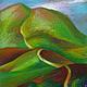 Пейзаж ручной работы. Ярмарка Мастеров - ручная работа. Купить Крымский пейзаж, масляная пастель,бумага 21х29,5. Handmade.