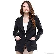 Одежда handmade. Livemaster - original item Jacket linen black. Handmade.