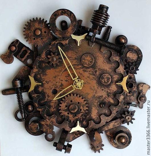 """Часы для дома ручной работы. Ярмарка Мастеров - ручная работа. Купить Часы в стиле """"стимпанк"""". Handmade. Часы, стимпанк часы"""