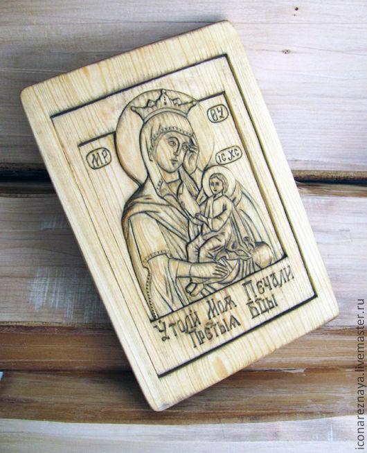 Икона резная «Матерь Божия «Утоли мои печали»