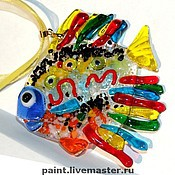Украшения handmade. Livemaster - original item Pendant Murano glass. Colorful fish. fusing. glass. gift.. Handmade.
