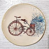 """Посуда ручной работы. Ярмарка Мастеров - ручная работа Тарелка столовая """"Прогулка. Зима"""". Handmade."""