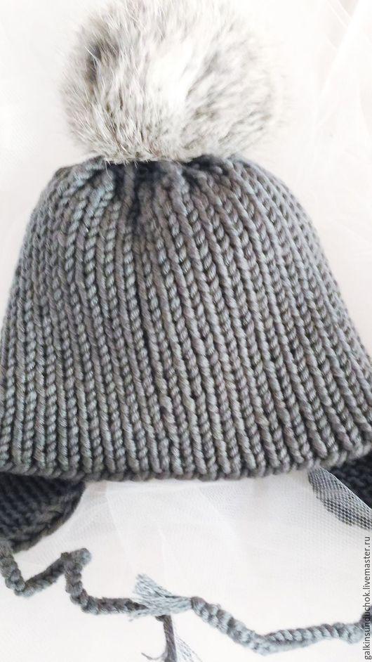 Шапки и шарфы ручной работы. Ярмарка Мастеров - ручная работа. Купить Шапка, шапочка для мальчика. Handmade. Серый, шапка женская