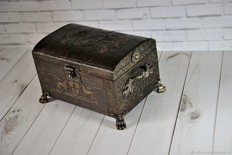 Jewelry box chest'casket Bronze -2', Box, Krasnodar,  Фото №1