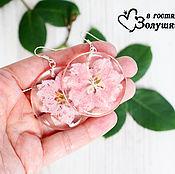 Украшения ручной работы. Ярмарка Мастеров - ручная работа Серьги Pink Larkspur. Handmade.