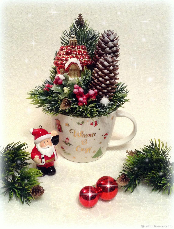 Новогодняя кружка с конфетами в подарок, Новогодние сувениры, Мытищи,  Фото №1