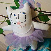 """Куклы и игрушки ручной работы. Ярмарка Мастеров - ручная работа мягкая игрушка Кошка """"Балерина"""". Handmade."""