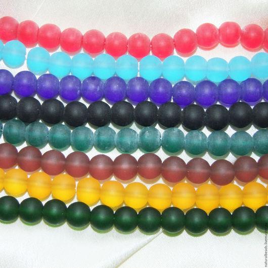 Для украшений ручной работы. Ярмарка Мастеров - ручная работа. Купить МОРСКОЕ СТЕКЛО бусины шарик 10 мм. Handmade.