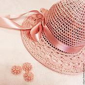 Работы для детей, handmade. Livemaster - original item Hat in peach tones. Handmade.