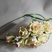 """Украшения ручной работы. Ярмарка Мастеров - ручная работа Венок  """"Наталия"""" Свадебный венок для фотосессии Розы. Handmade."""