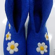 """Обувь ручной работы. Ярмарка Мастеров - ручная работа Валенки домашние """"Ромашка"""". Handmade."""