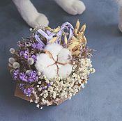 Композиции ручной работы. Ярмарка Мастеров - ручная работа Зимний хлопок (композиция из сухоцветов). Handmade.